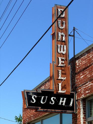 Dunwell Sushi sign