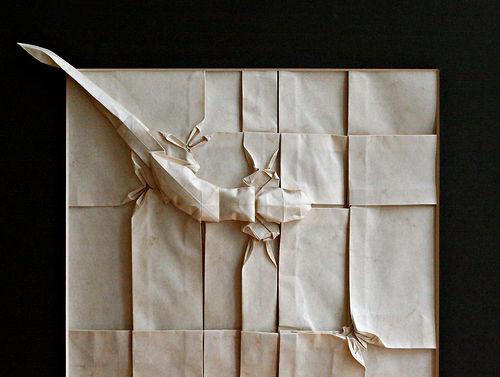 origami gecko