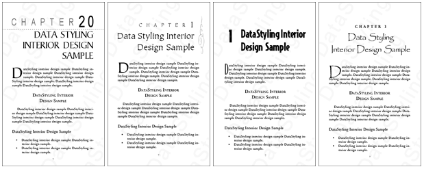 Sample designs from Filipino typesetter/designer