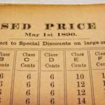 revised price list