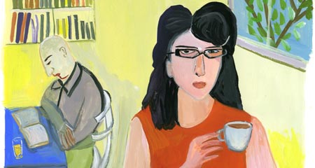 detail of an illustration by Maira Kalman - bookstore in Tel Aviv