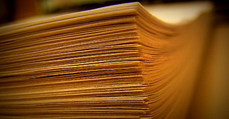 stack of manuscript pages